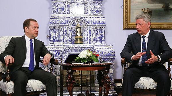 Медведев встретился с украинскими политиками Медведчуком и Бойко