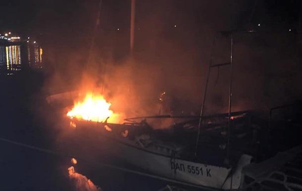 Под Одессой сгорела яхта депутата