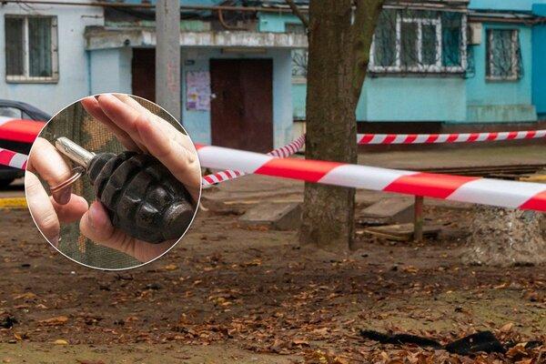 В Днепре мужчина подорвался на гранате во дворе многоэтажки