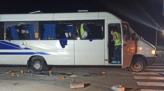 Нападение на автобус в Харькове