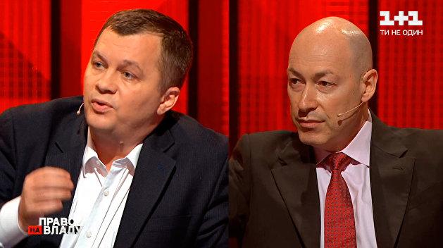 Тимофей Милованов и Дмитрий Гордон