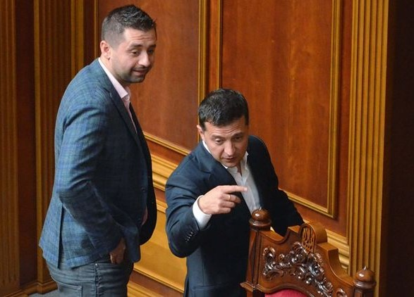 Давид Арахамия и Владимир Зеленский