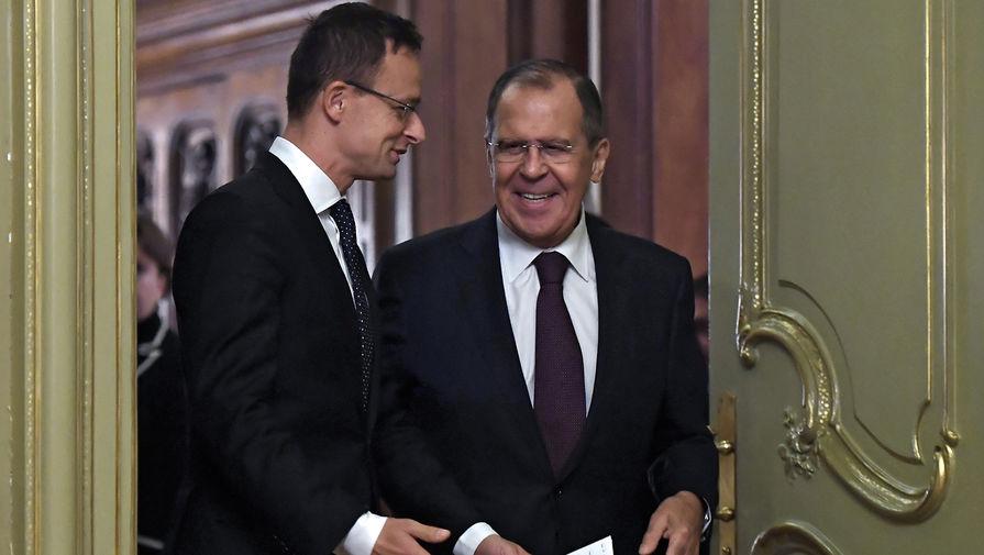Сергей Лавров и Петер Сийярто