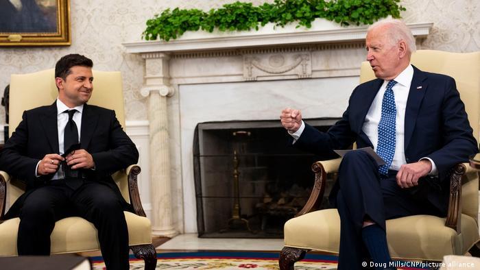 Президент Украины Владимир Зеленский и президент США Джо Байден