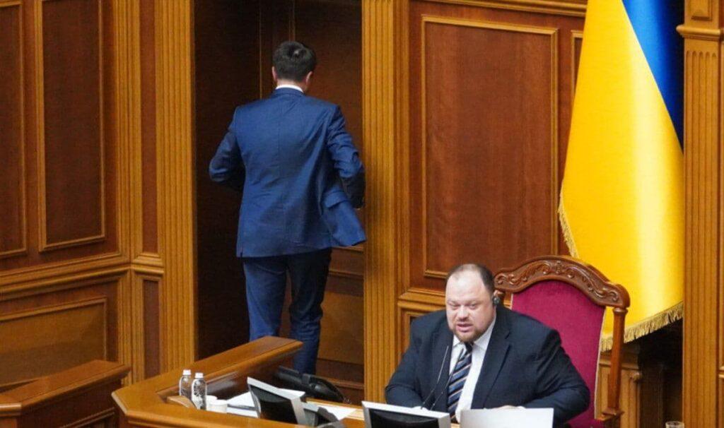 Преседатель Верховной Рады Украины Дмитрий Разумков